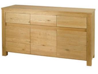 ZAGO - buffet 3 portes 3 tiroirs en chêne massif côme 180 - Buffet Bas