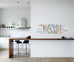 Walldesign - map tokyo - Papier Peint Panoramique