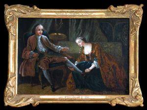 Bauermeister Antiquit�s - Expertise - la courtisane amoureuse - Huile Sur Toile Et Huile Sur Panneau