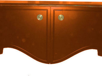 Luc Perron - 2 portes lisses rouge basque - Buffet Haut