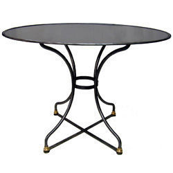 Jardinieres & Interieurs - gueridon oval poli - Table De Repas Ronde