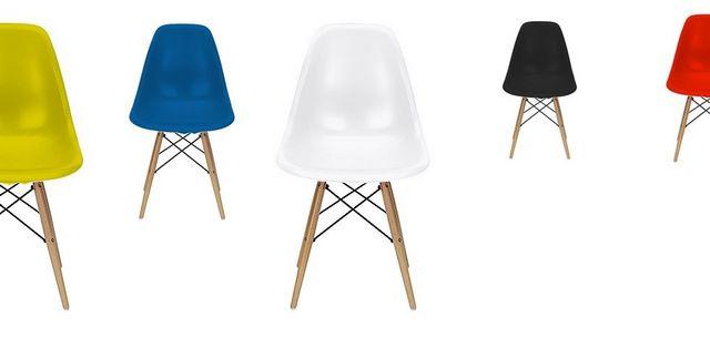 Chaise Jaune Design Eiffel SW Charles Eames Lot De