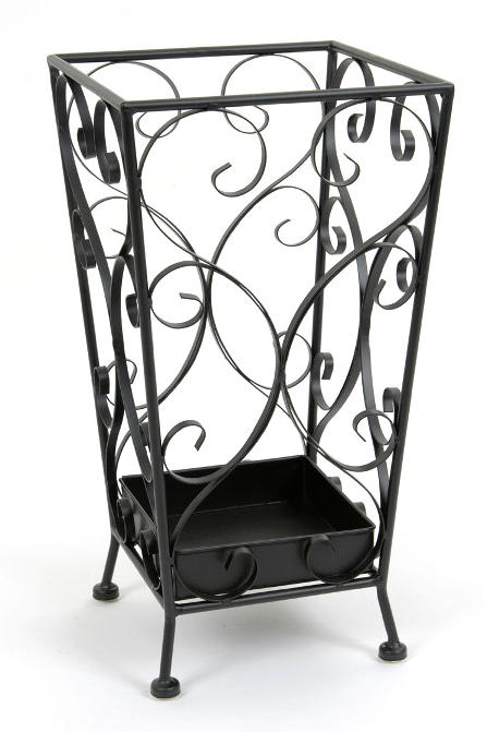 porte parapluies carr fer forg porte parapluies m tal. Black Bedroom Furniture Sets. Home Design Ideas
