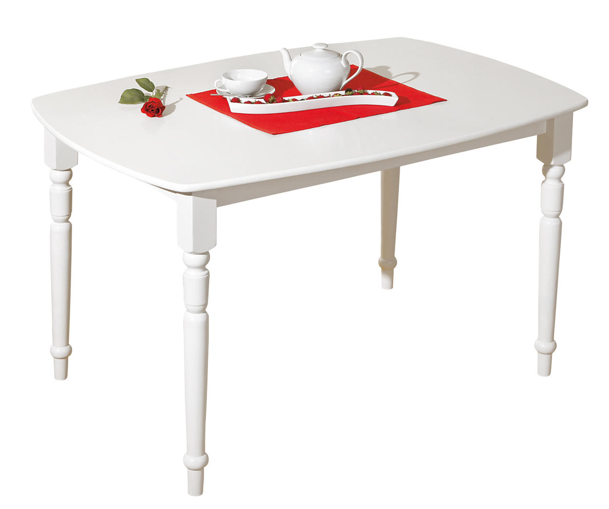 table de cuisine classique blanche table de repas. Black Bedroom Furniture Sets. Home Design Ideas