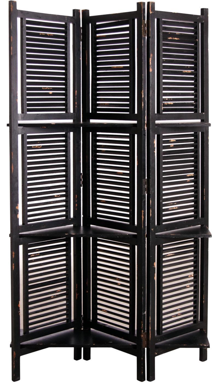 paravent en bois vieilli avec tag res paravent aubry gaspard. Black Bedroom Furniture Sets. Home Design Ideas