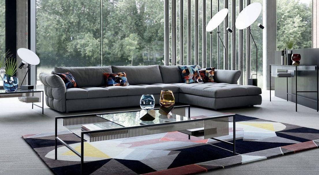 nonchalance canap d 39 angle gris tissu roche bobois. Black Bedroom Furniture Sets. Home Design Ideas