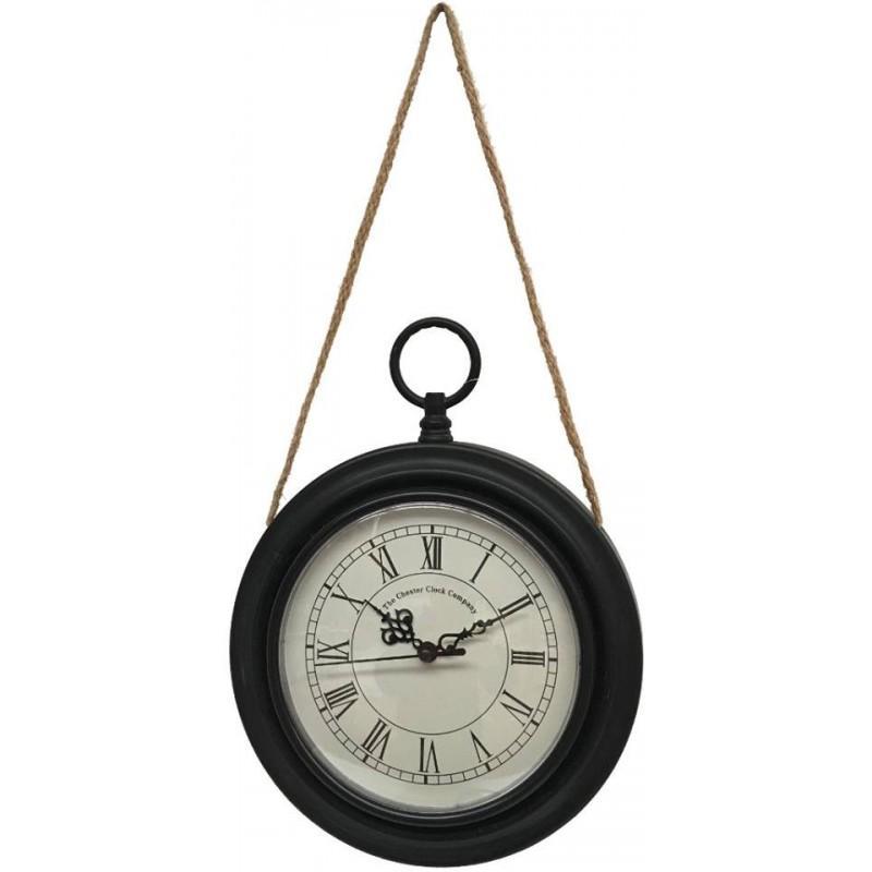 style ancienne horloge murale en m tal fer rond oi horloge murale noir fer chemin de. Black Bedroom Furniture Sets. Home Design Ideas