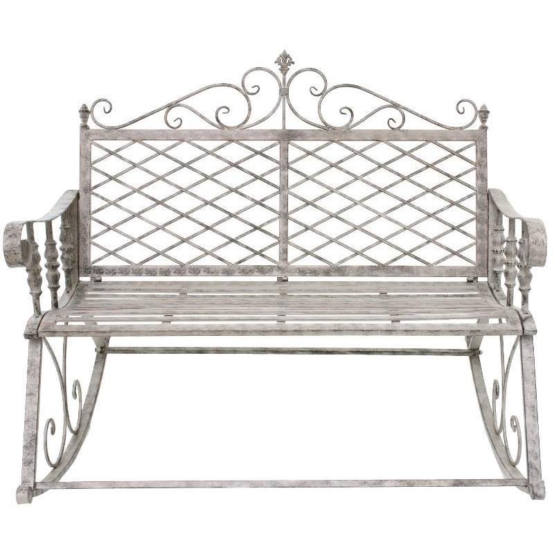 grand banc fauteuil rocking chair en fer de jardin rocking chair. Black Bedroom Furniture Sets. Home Design Ideas