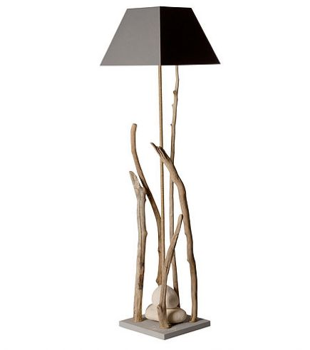 Grand À Lampe Lagon De Coc Bois Esprit Poser Flotté Naturel c3A5LS4Rqj