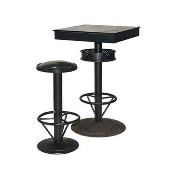 mange debout carre style industriel mange debout noir mathi. Black Bedroom Furniture Sets. Home Design Ideas