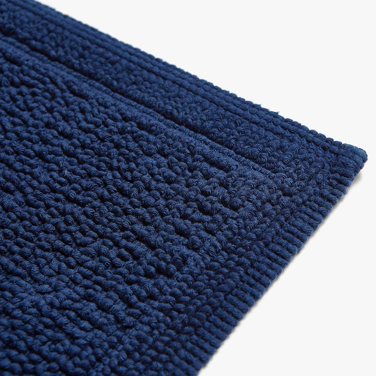 Reversible Bleu Tapis De Bain Bleu 50 X 70 Cm Zara Home