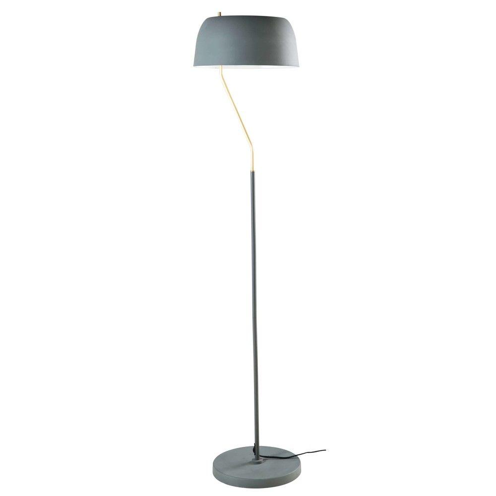 lampadaire en m tal vert olive et dor h157lampadaire. Black Bedroom Furniture Sets. Home Design Ideas