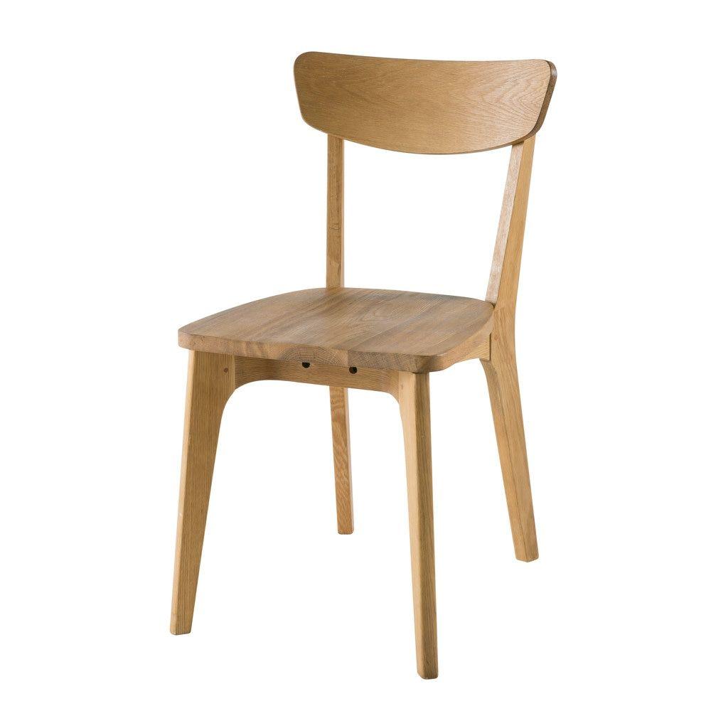 Chaise vintage en ch ne massif virgilchaise 44x80x55cm maisons du monde - Chaise maison du monde ...
