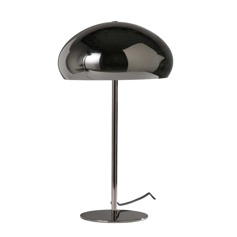 lampe globe en m tal fum noirlampe poser noir 30x50x30cm. Black Bedroom Furniture Sets. Home Design Ideas