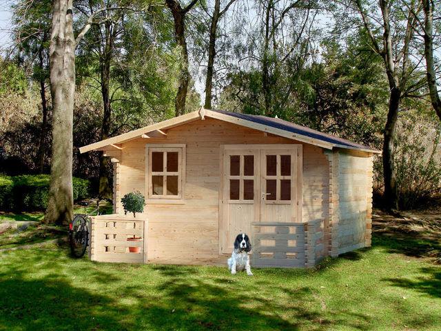Chalet & Jardin - Abri de jardin bois-Chalet & Jardin-Chalet de jardin en sapin 15,92 m² avec terrasse