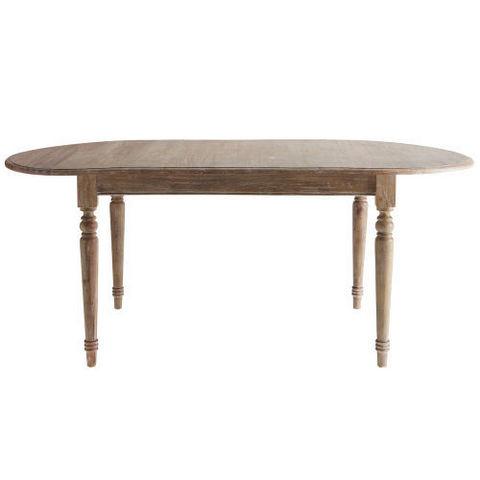MAISONS DU MONDE - Table de repas ovale-MAISONS DU MONDE-Table à dîner grise Faustine