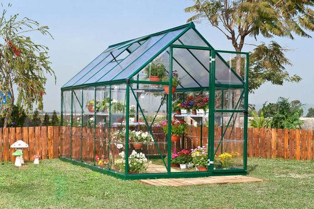 Chalet & Jardin - Serre-Chalet & Jardin-Serre gaya verte 5,7m² en aluminuim et polycarbona