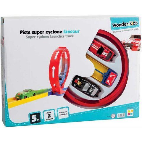 WONDER KIDS - Voiture miniature-WONDER KIDS-Piste de lancement 2 voitures super cyclone
