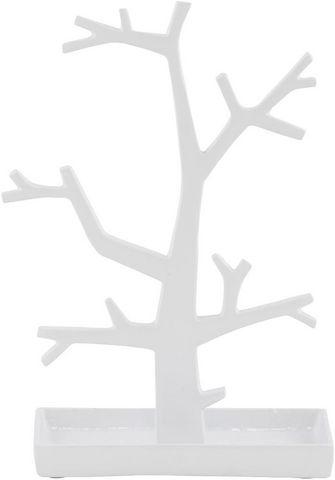 KOKOON DESIGN - Porte-bijoux-KOKOON DESIGN-Porte-bijoux design tree en aluminium blanc 22x11x