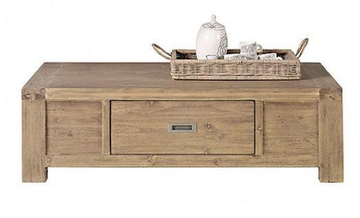 INWOOD - Table basse rectangulaire-INWOOD-Table basse 1 tiroir nevada en acacia 135x80x40cm