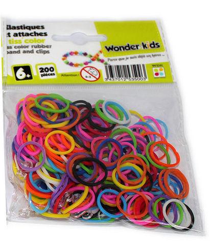 WONDER KIDS - Bracelets caoutchouc-WONDER KIDS-Recharges elastiques multicolores pour bracelets t