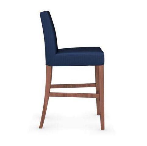 Calligaris - Chaise haute de bar-Calligaris-Chaise de bar LATINA de CALLIGARIS bleue et noyer