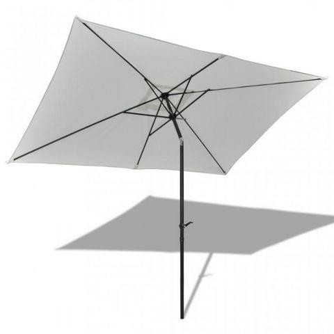 WHITE LABEL - Parasol télescopique-WHITE LABEL-Parasol rectangulaire manivelle et bascule