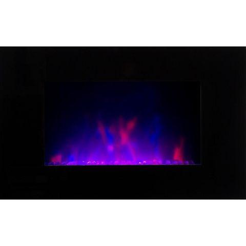 CHEMIN'ARTE - Cheminée électrique-CHEMIN'ARTE-Cheminée design Volcano Black en Acier et Verre tr