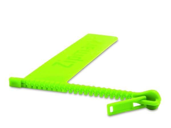 WHITE LABEL - Marque-page-WHITE LABEL-Marque-page-en-forme-de-fermeture éclair zip objet