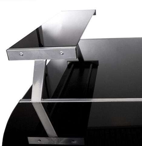 KOKOON DESIGN - Bureau-KOKOON DESIGN-Bureau d'angle design Delo Verre noir