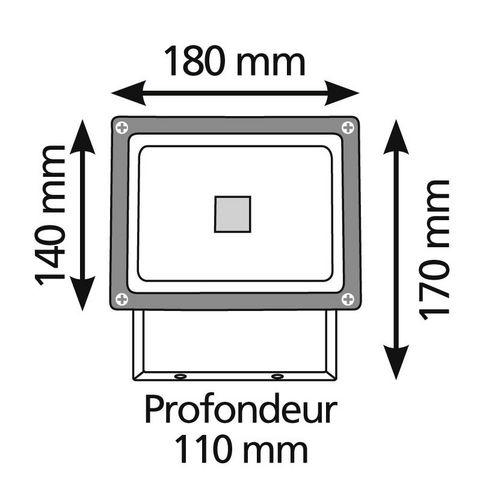 LUMIHOME - Projecteur LED-LUMIHOME-COB - Projecteur extérieur LED L Blanc froid   Lum