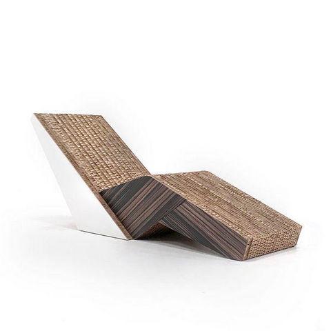 Corvasce Design - Méridienne-Corvasce Design-Moku Chaise Longue in Cartone