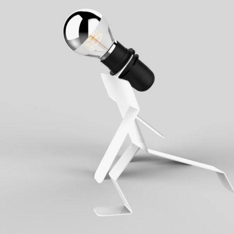 Thomas De Lussac - Lampe à poser-Thomas De Lussac-MOONWALKID - Lampe à poser Blanc H21cm   Lampe à p