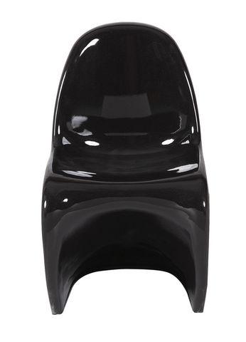 COMFORIUM - Chaise-COMFORIUM-Lot de 2 chaises ultra design en noir laqué