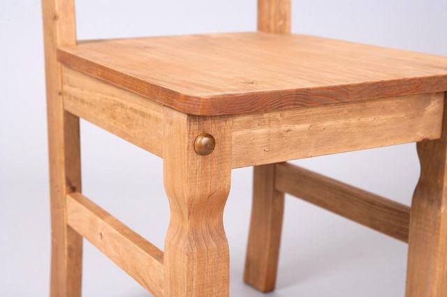 COMFORIUM - Chaise-COMFORIUM-Lot de 2 chaises salle à manger en pin massif