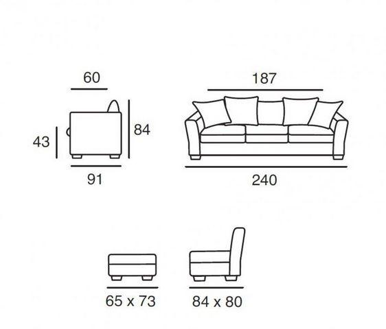 Home Spirit - Canapé modulable-Home Spirit-Canapé d'angle fixe WATSON tissu microfibre grège