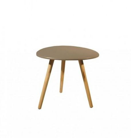 Demeure et Jardin - Table d'appoint-Demeure et Jardin-Petite table scandinave forme galet taupe