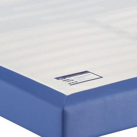 Merinos - Sommier fixe à ressorts-Merinos-Sommier tapissier à lattes MERINOS enduit bleu éle