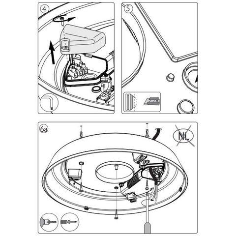 Philips - Plafonnier-Philips-Plafonnier rond salle de bain Hole D45 cm IP44