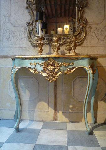 Terra Di Siena - Console-Terra Di Siena-Console Louis XV
