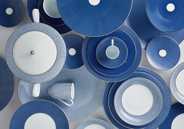 Raynaud - Assiette plate-Raynaud-Trésor bleu