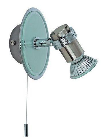 JEANCEL - Spot de salle de bains-JEANCEL-Spot IP44 avec tirette chromé