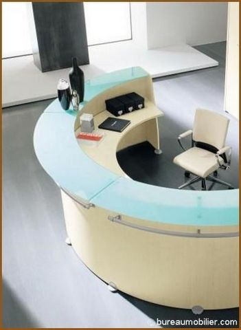 BM Bureau - Banque d'accueil-BM Bureau-Accueil Glass