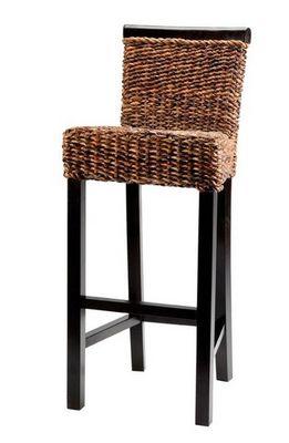 MEUBLES ZAGO - Chaise haute de bar-MEUBLES ZAGO-Chaise de bar abaca Cuzco