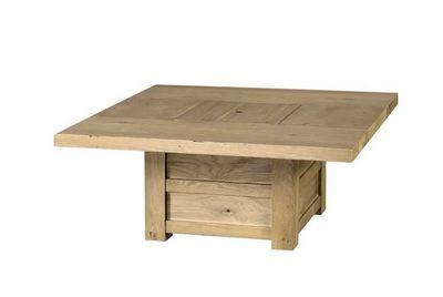 MEUBLES ZAGO - Table basse carrée-MEUBLES ZAGO-Table basse coffre chêne Moon