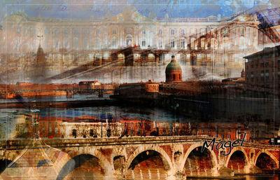 Magel'design - Tableau décoratif-Magel'design-Toulouse Garonne120x80 cm , 3D effet relief