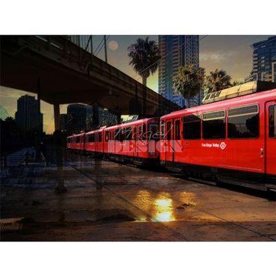 Magel'design - Tableau contemporain-Magel'design-San Diego Trolley 120x90 cm , 3D effet relief