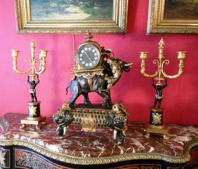 Art & Antiques - Torchère-Art & Antiques-Torchères en bronze Napoléon III