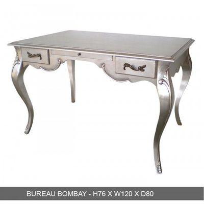 DECO PRIVE - Bureau-DECO PRIVE-Bureau baroque en bois argente grand modele Bombay