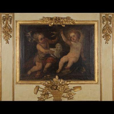Expertissim - Trumeau-Expertissim-Important trumeau de style Louis XVI